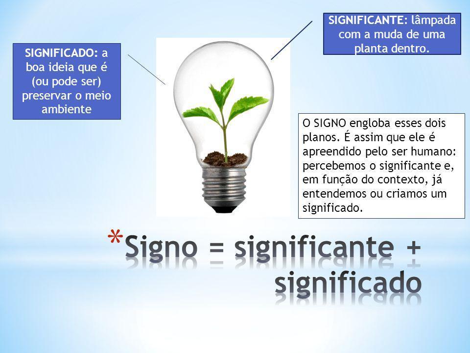 Signo = significante + significado