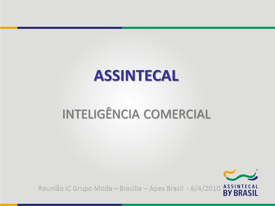 ASSINTECAL INTELIGÊNCIA COMERCIAL