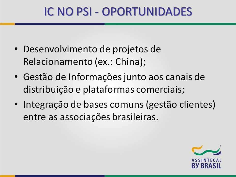 IC NO PSI - OPORTUNIDADES