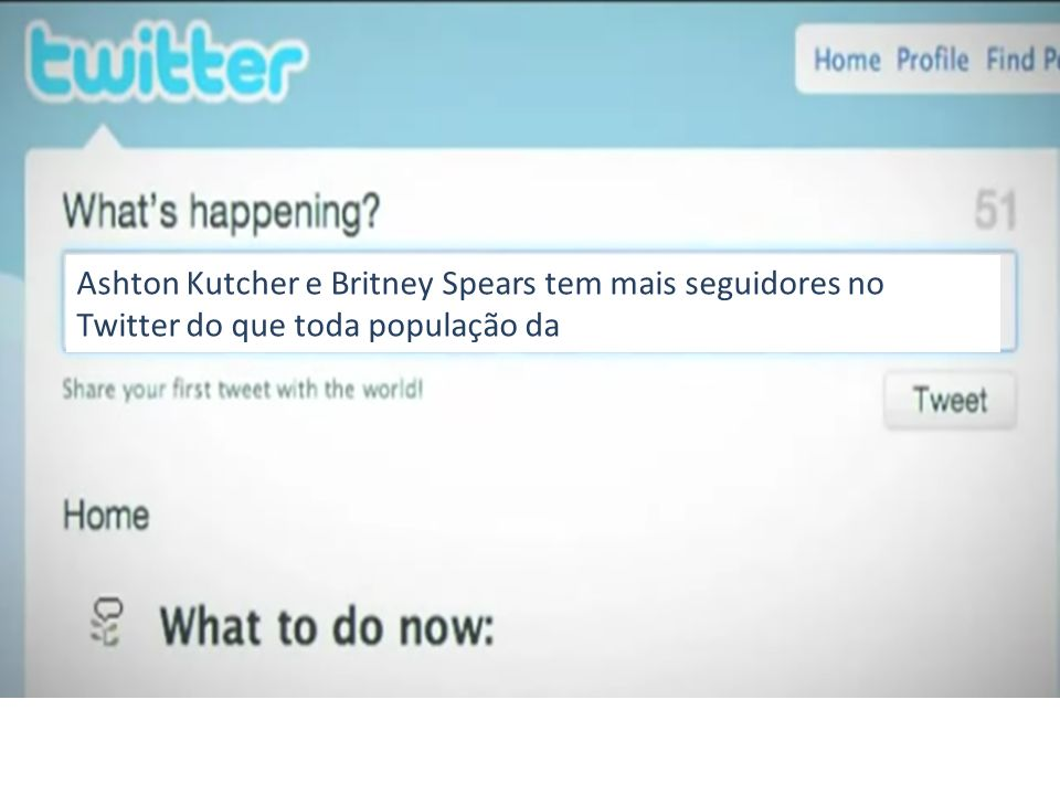 Ashton Kutcher e Britney Spears tem mais seguidores no Twitter do que toda população da