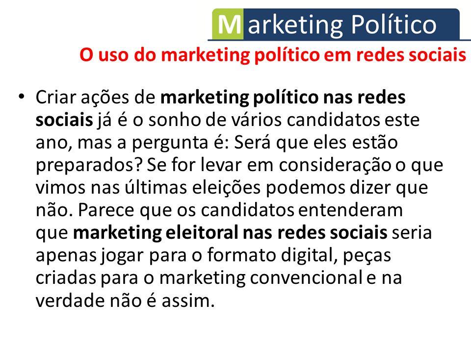 O uso do marketing político em redes sociais
