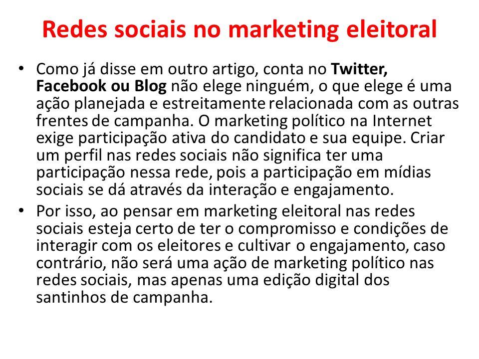 Redes sociais no marketing eleitoral