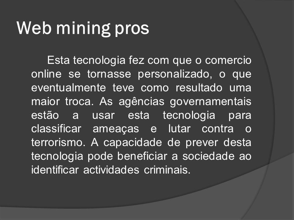 Web mining pros