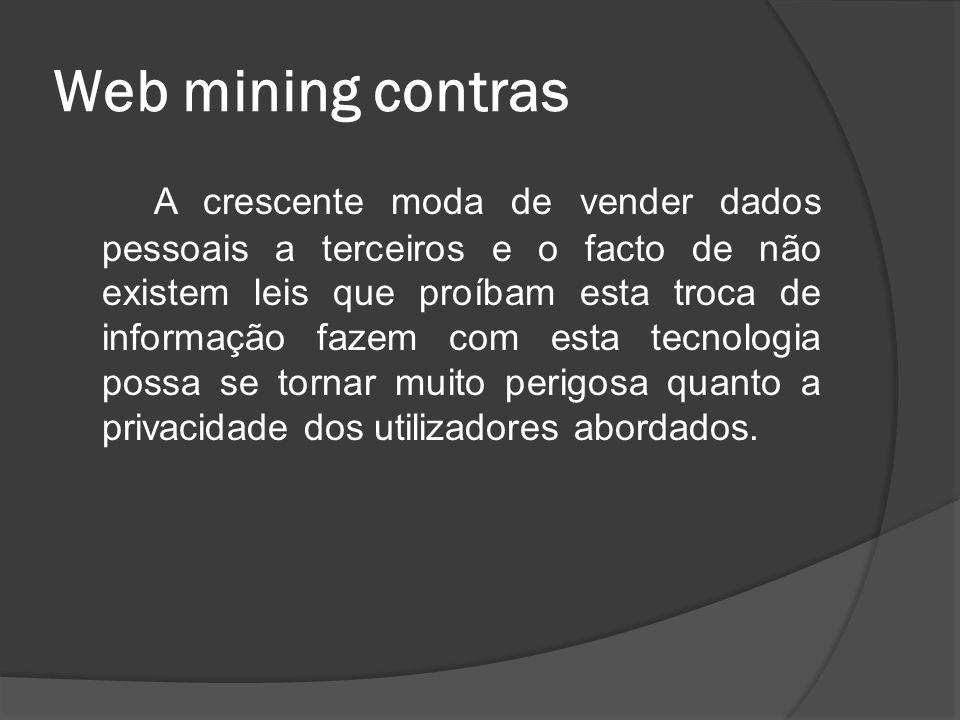 Web mining contras