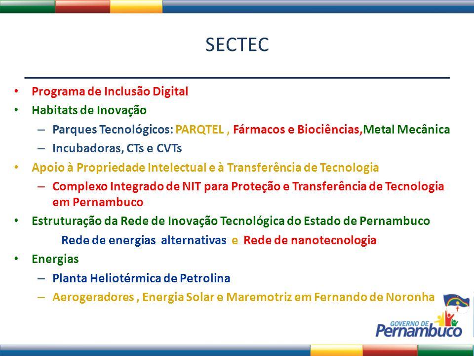 SECTEC Programa de Inclusão Digital Habitats de Inovação