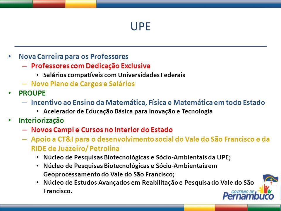 UPE Nova Carreira para os Professores