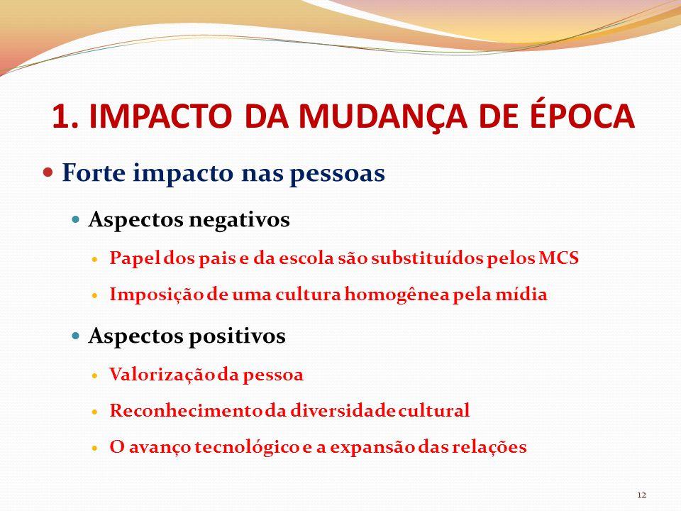 1. IMPACTO DA MUDANÇA DE ÉPOCA