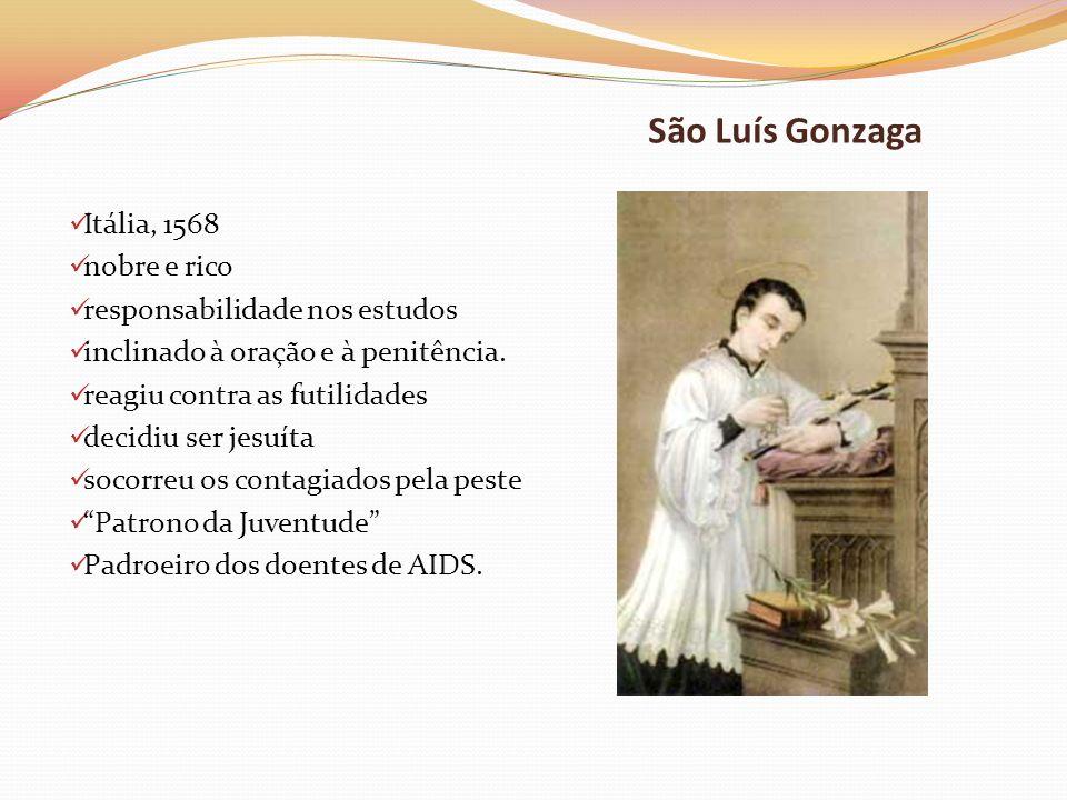 São Luís Gonzaga Itália, 1568 nobre e rico