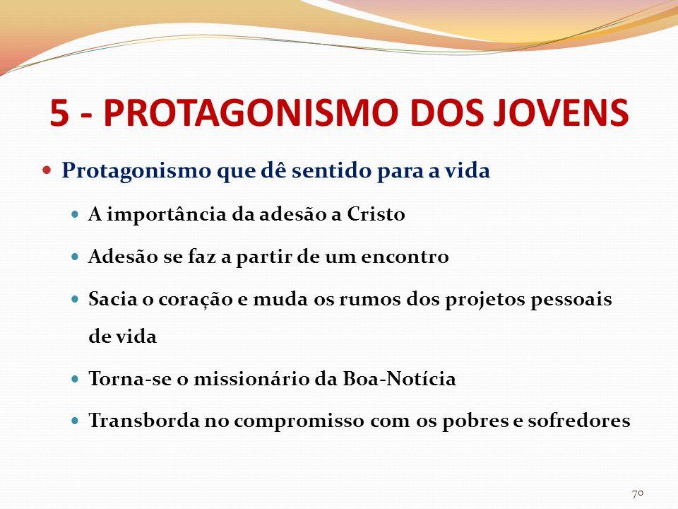 5 - PROTAGONISMO DOS JOVENS