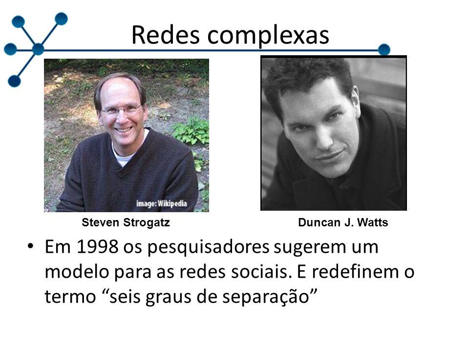 Redes complexas Steven Strogatz. Duncan J. Watts.