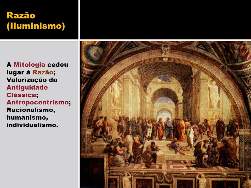 Razão (Iluminismo) A Mitologia cedeu lugar à Razão;