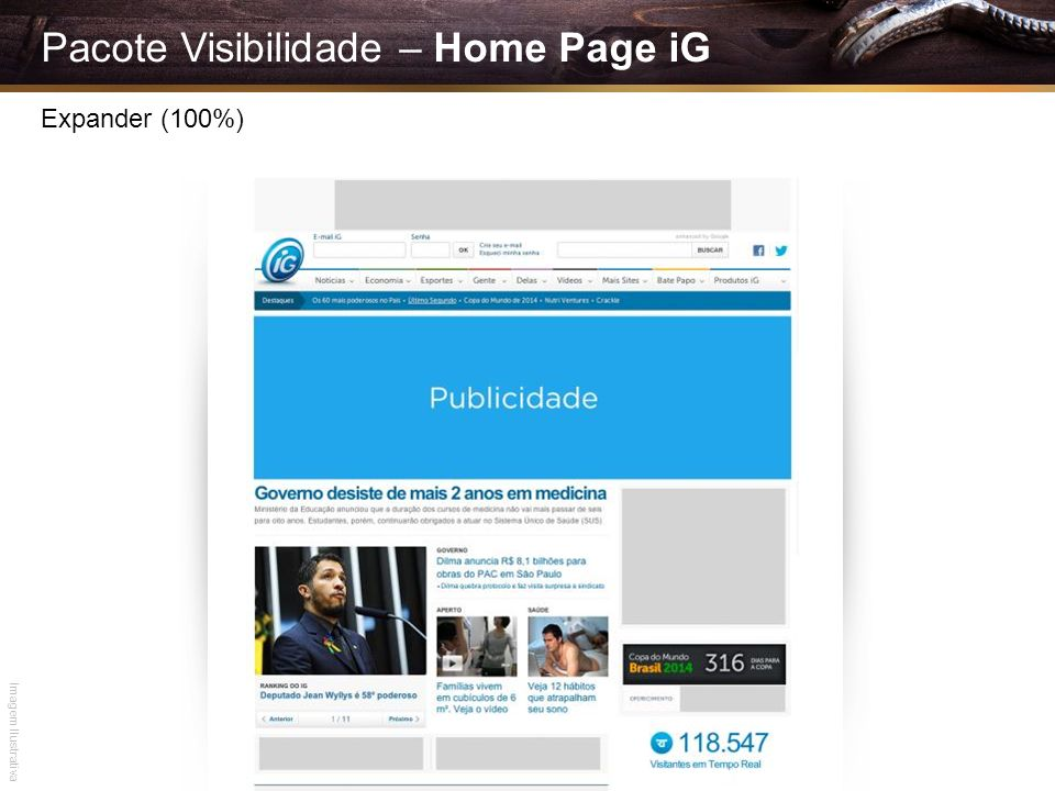 Pacote Visibilidade – Home Page iG