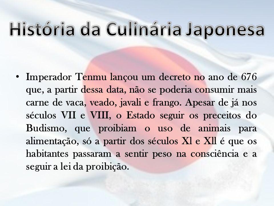 História da Culinária Japonesa