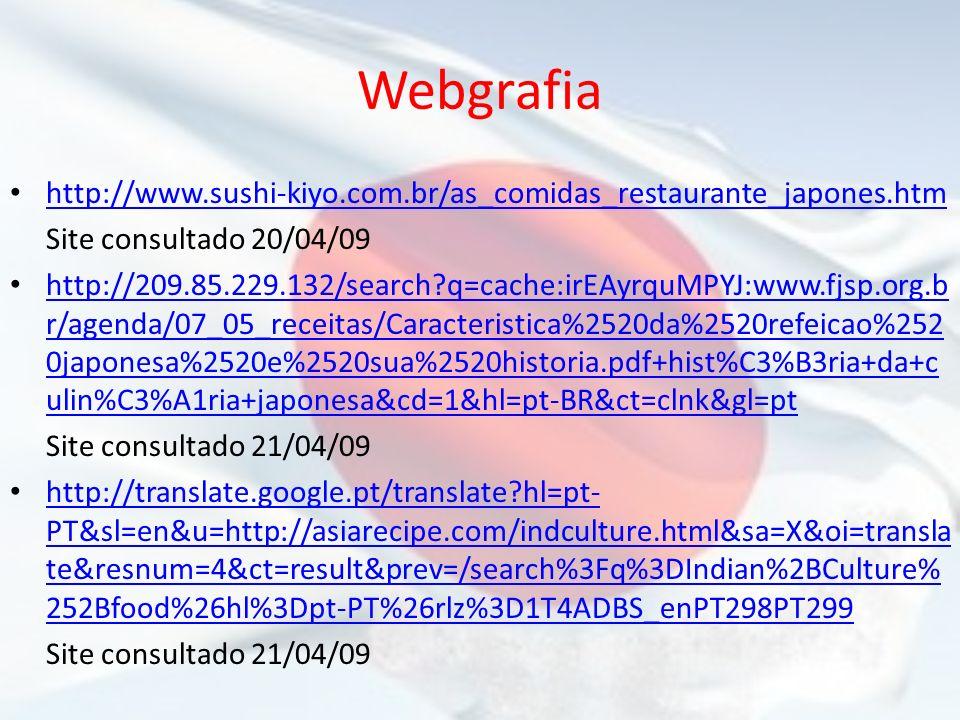 Webgrafia http://www.sushi-kiyo.com.br/as_comidas_restaurante_japones.htm. Site consultado 20/04/09.
