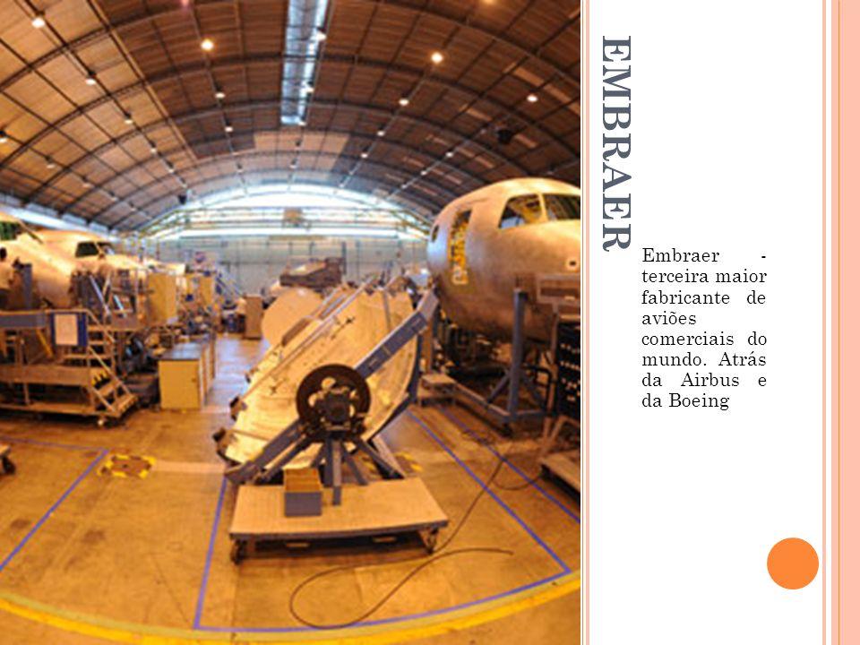 Embraer - terceira maior fabricante de aviões comerciais do mundo