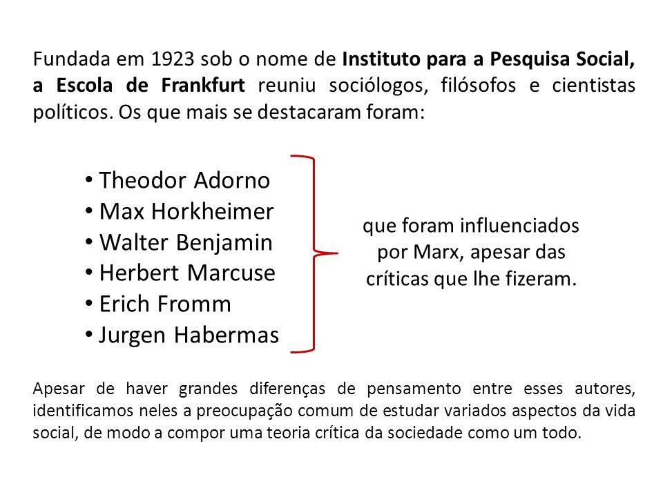 que foram influenciados por Marx, apesar das críticas que lhe fizeram.