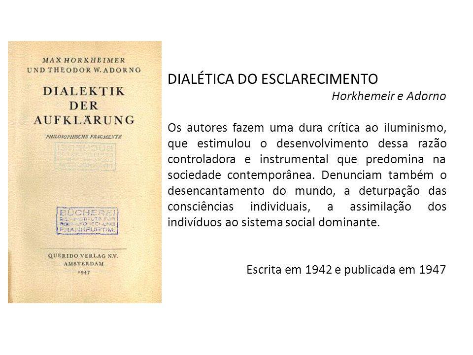 DIALÉTICA DO ESCLARECIMENTO