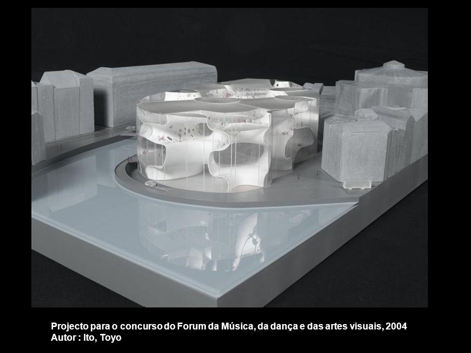 Projecto para o concurso do Forum da Música, da dança e das artes visuais, 2004