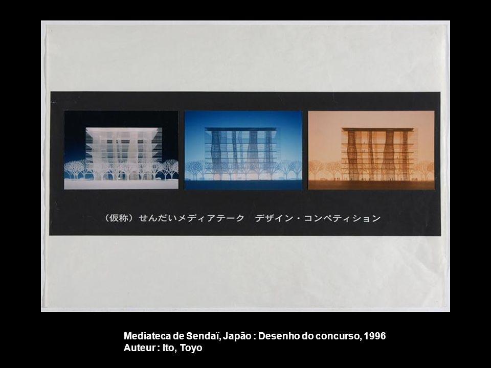Mediateca de Sendaï, Japão : Desenho do concurso, 1996
