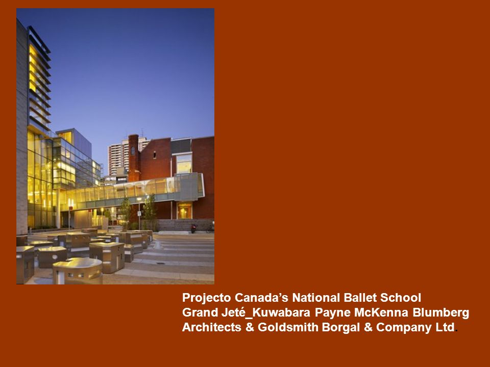 Projecto Canada's National Ballet School