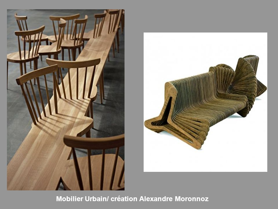 Mobilier Urbain/ création Alexandre Moronnoz
