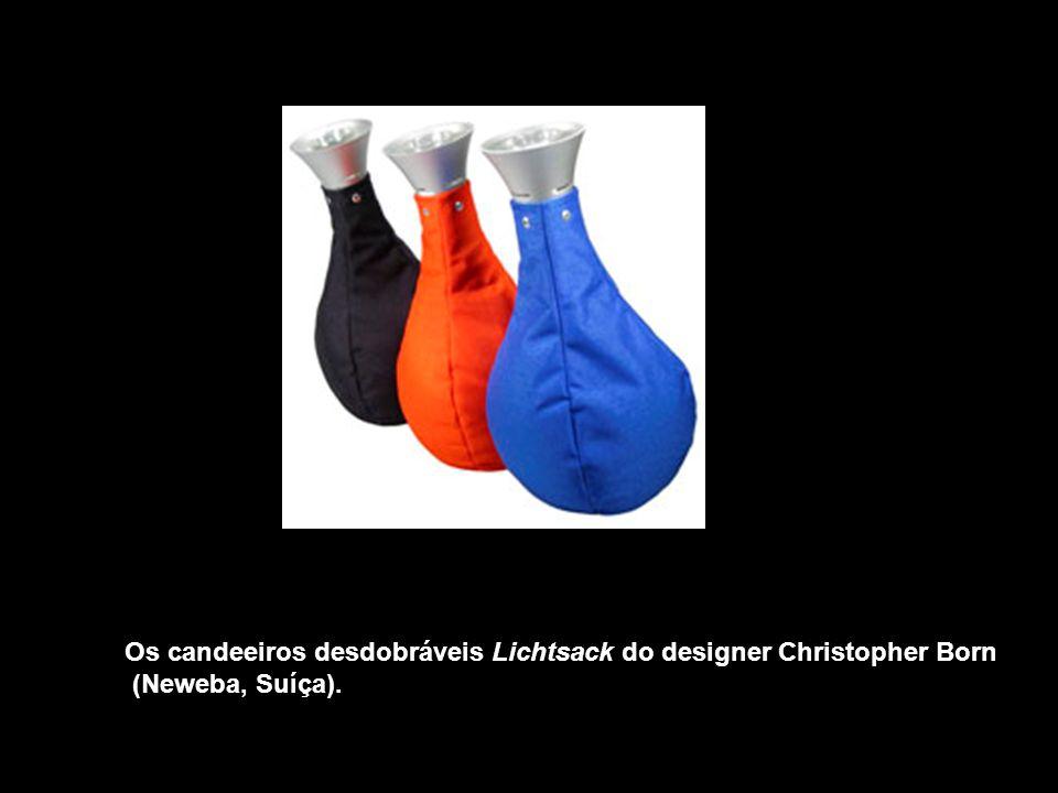Os candeeiros desdobráveis Lichtsack do designer Christopher Born