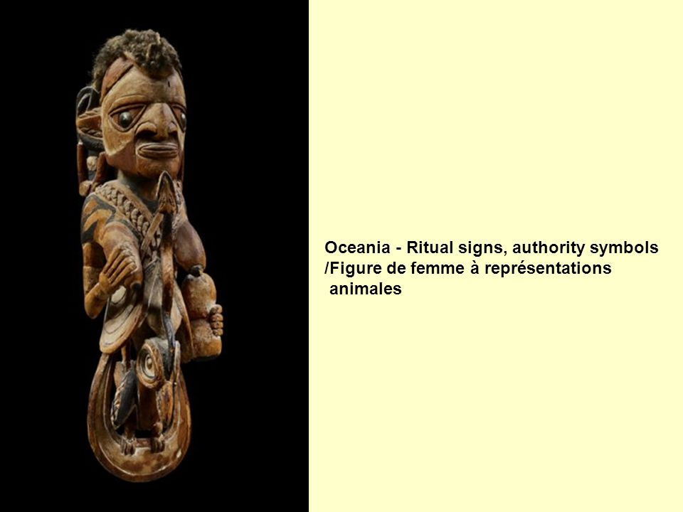 Oceania - Ritual signs, authority symbols