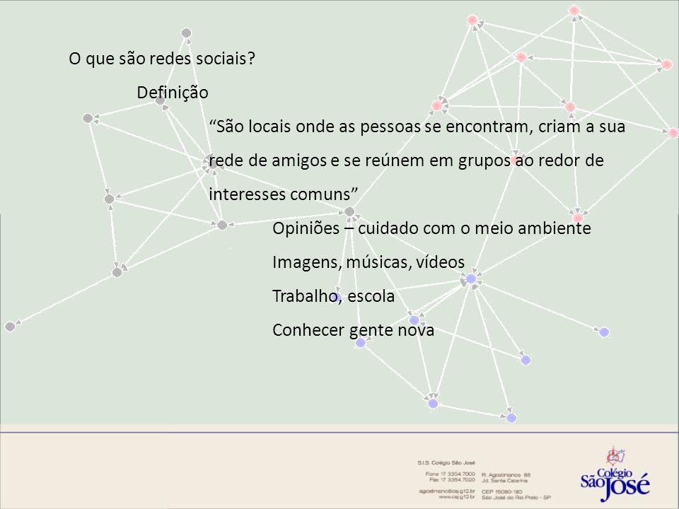 O que são redes sociais Definição.