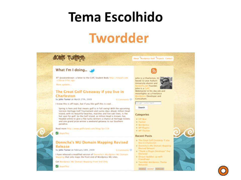 Tema Escolhido Twordder