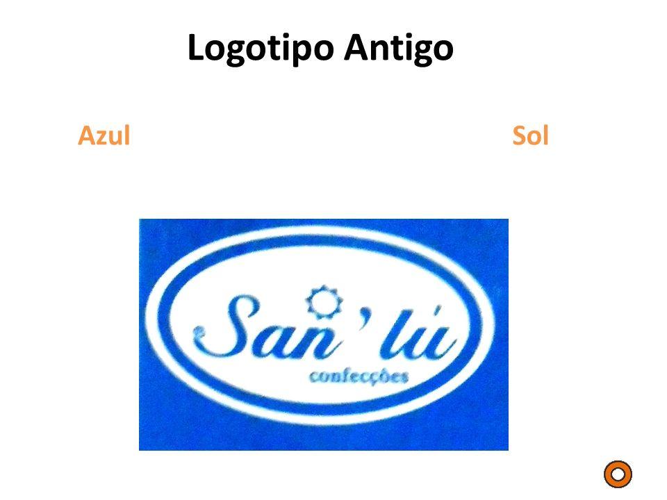 Logotipo Antigo Azul Sol