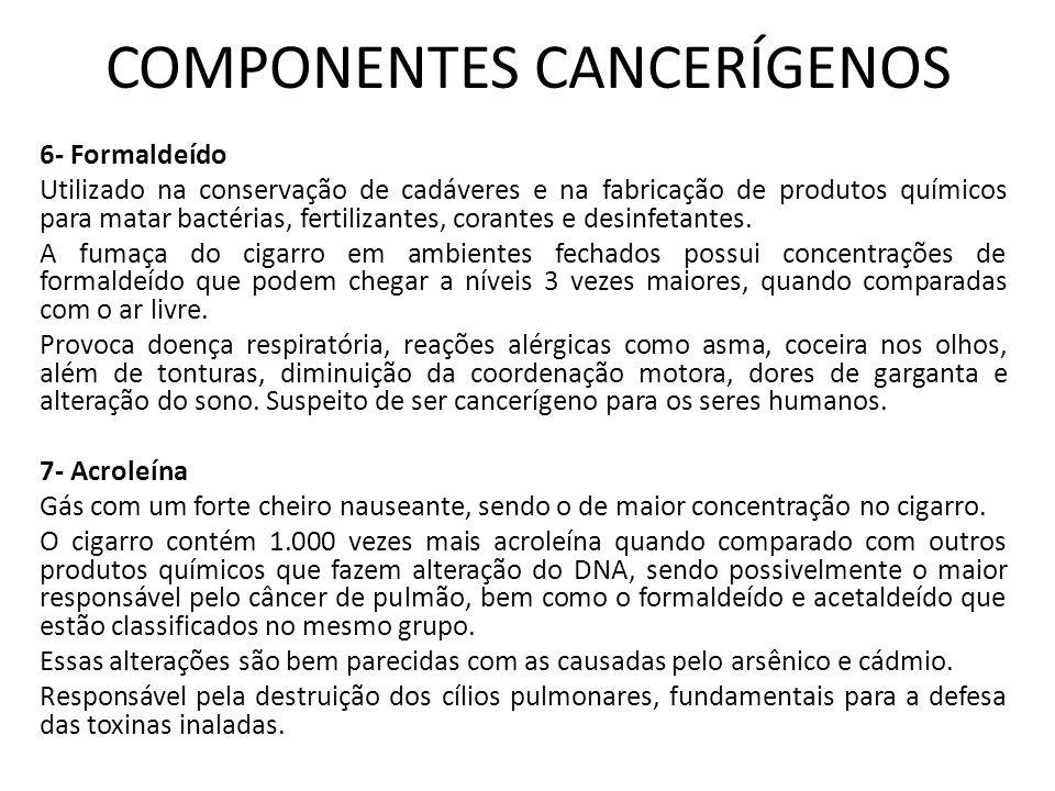 COMPONENTES CANCERÍGENOS