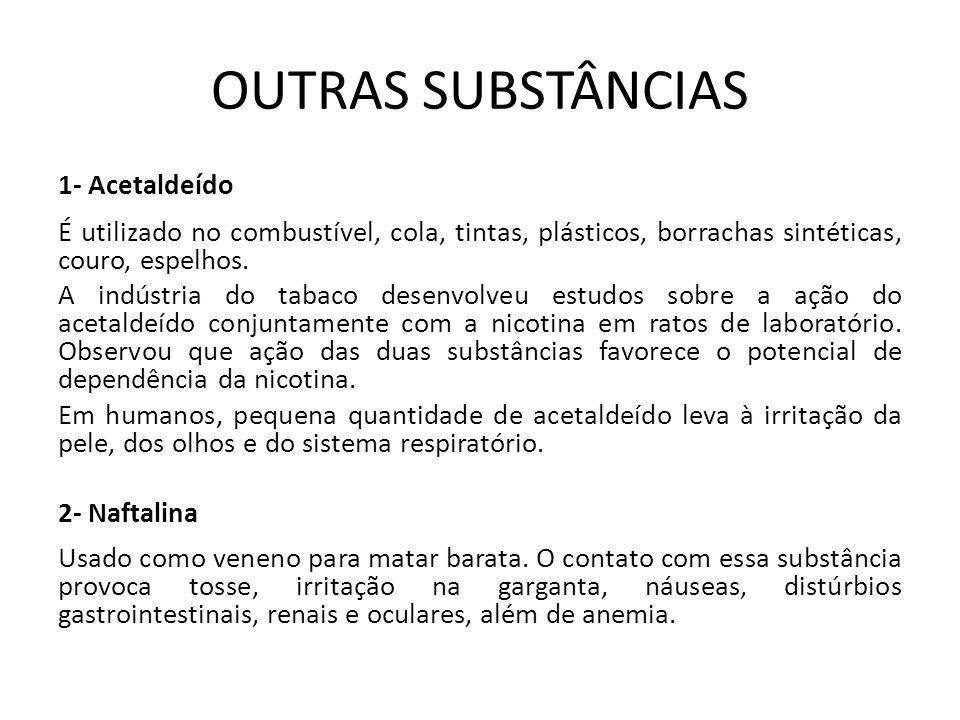 OUTRAS SUBSTÂNCIAS 1- Acetaldeído