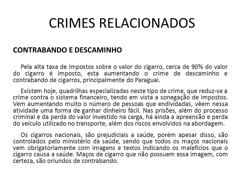 CRIMES RELACIONADOS CONTRABANDO E DESCAMINHO