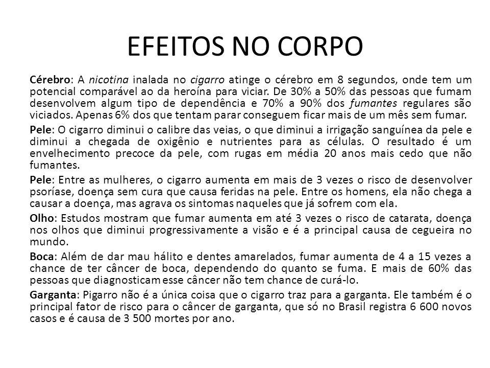 EFEITOS NO CORPO