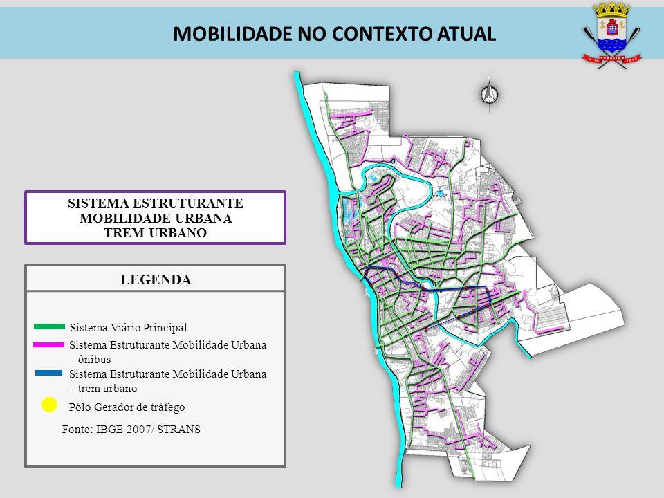 MOBILIDADE NO CONTEXTO ATUAL SISTEMA ESTRUTURANTE MOBILIDADE URBANA