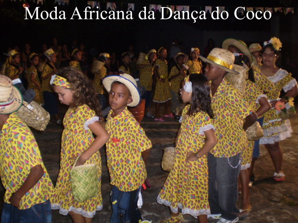 Moda Africana da Dança do Coco