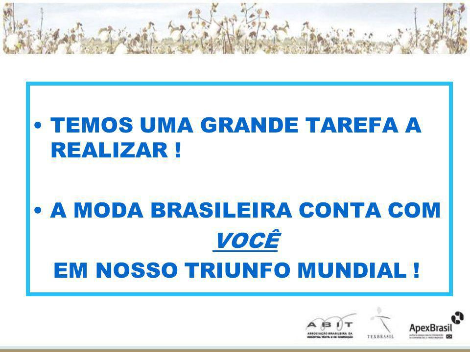 TEMOS UMA GRANDE TAREFA A REALIZAR !