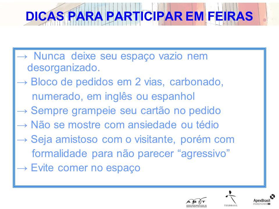 DICAS PARA PARTICIPAR EM FEIRAS
