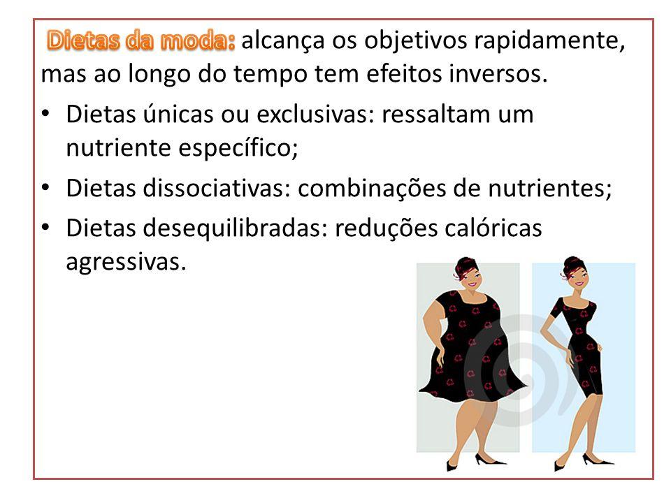 Dietas da moda: alcança os objetivos rapidamente, mas ao longo do tempo tem efeitos inversos.