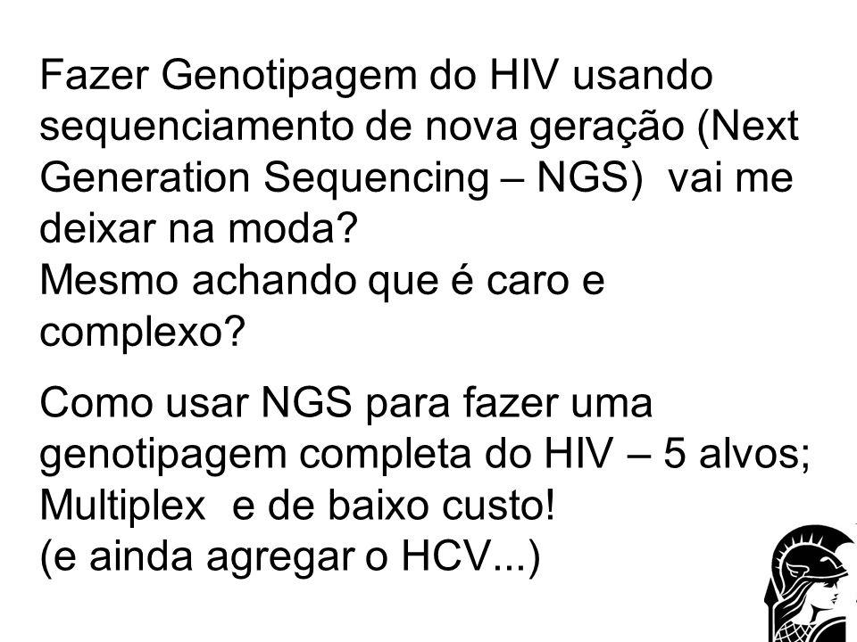 Fazer Genotipagem do HIV usando sequenciamento de nova geração (Next Generation Sequencing – NGS) vai me deixar na moda Mesmo achando que é caro e complexo