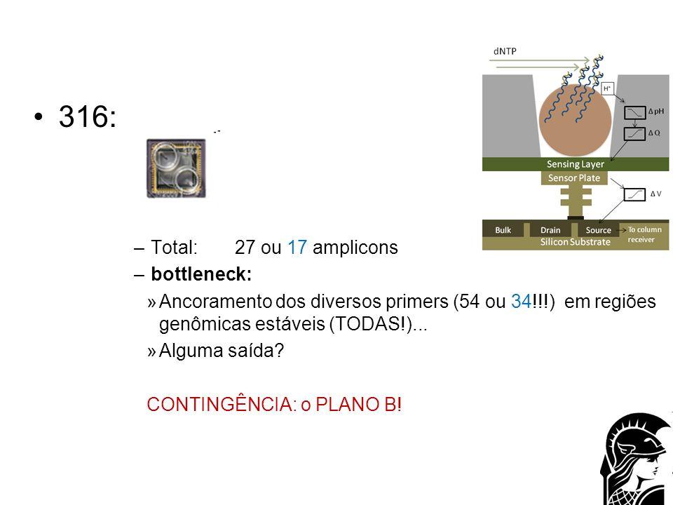 316: Total: 27 ou 17 amplicons bottleneck: