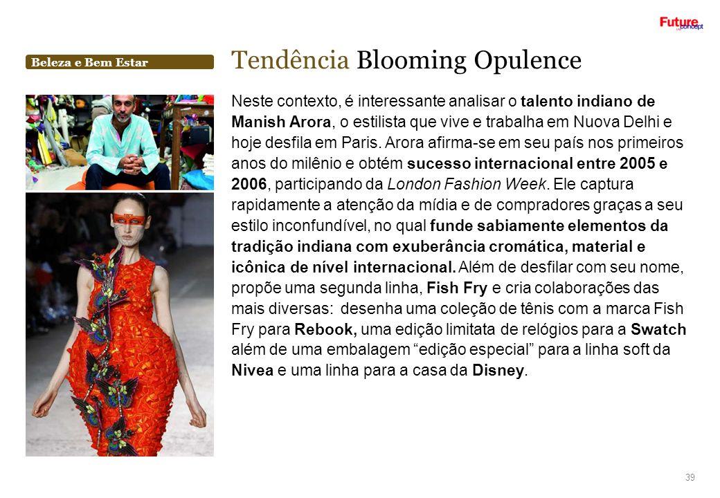 Tendência Blooming Opulence
