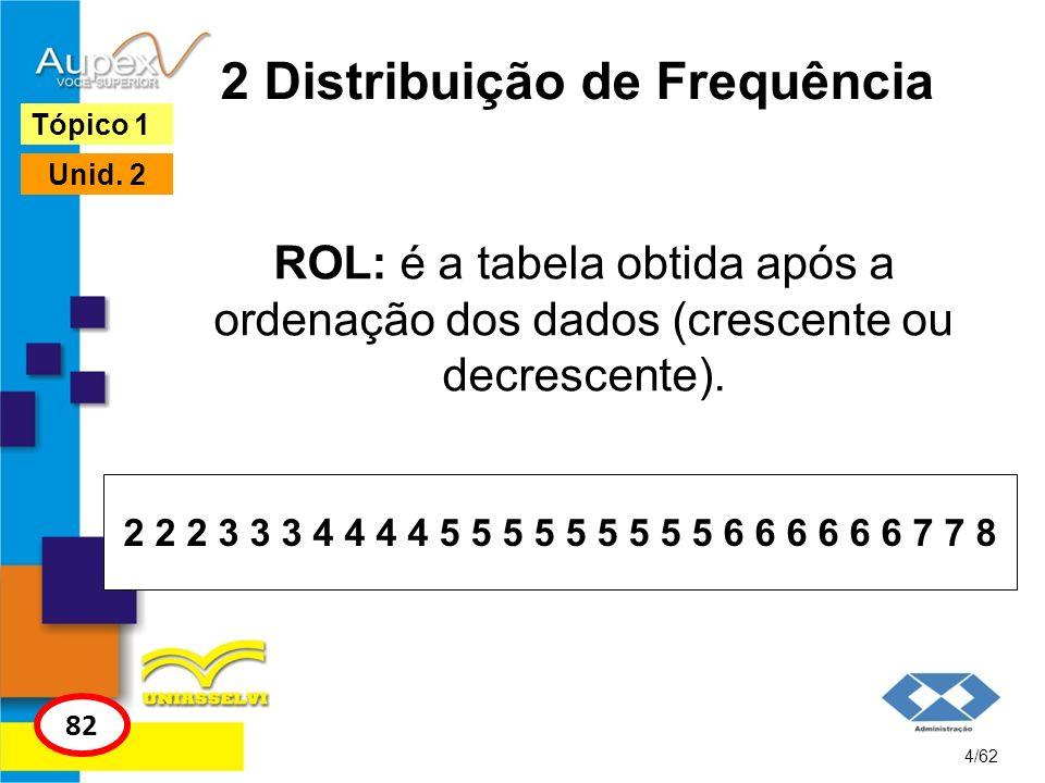 2 Distribuição de Frequência
