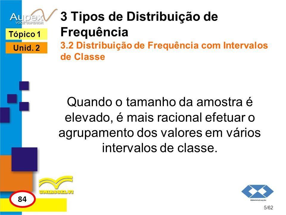 3 Tipos de Distribuição de Frequência 3