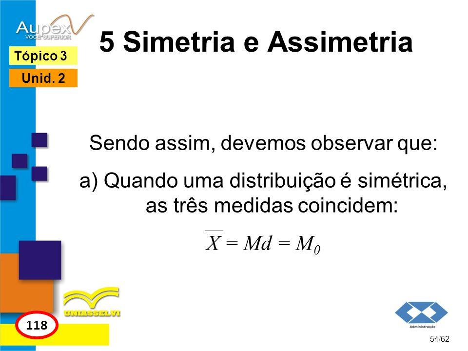 5 Simetria e Assimetria Sendo assim, devemos observar que: