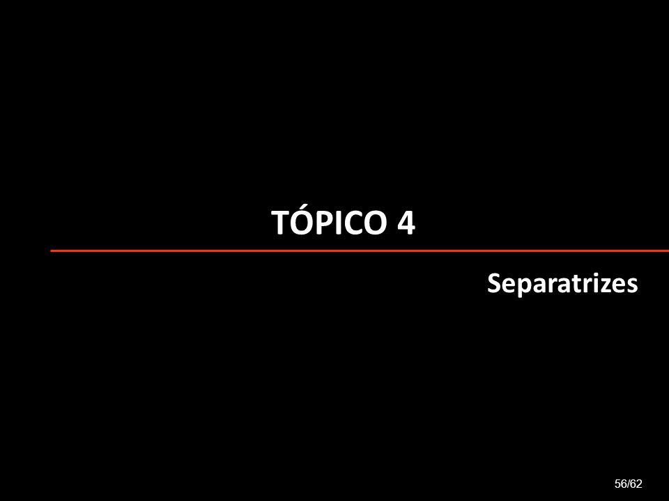 TÓPICO 4 Separatrizes 56/62