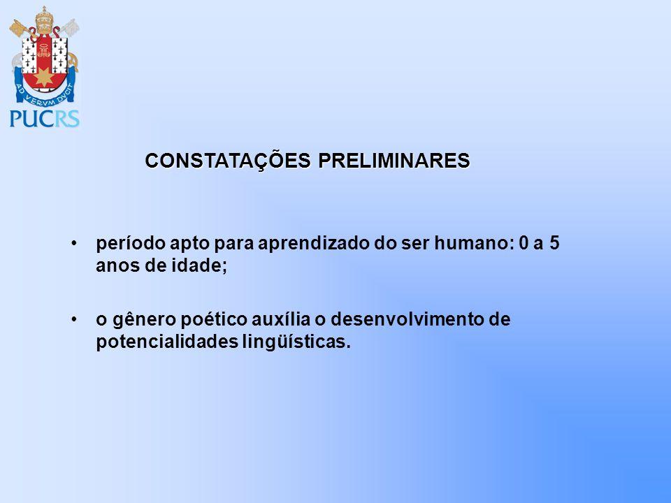 CONSTATAÇÕES PRELIMINARES
