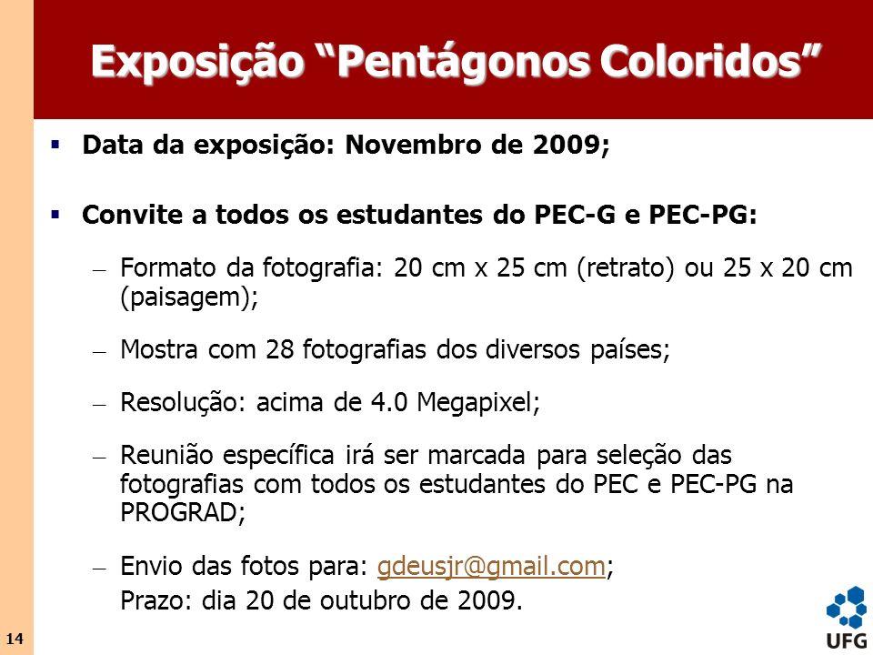 Exposição Pentágonos Coloridos