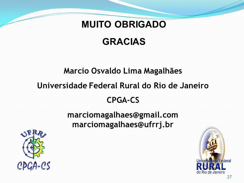 MUITO OBRIGADO GRACIAS