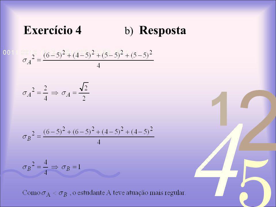 Exercício 4 b) Resposta